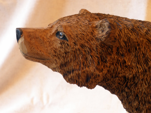 Bear Wood Carving Pattern