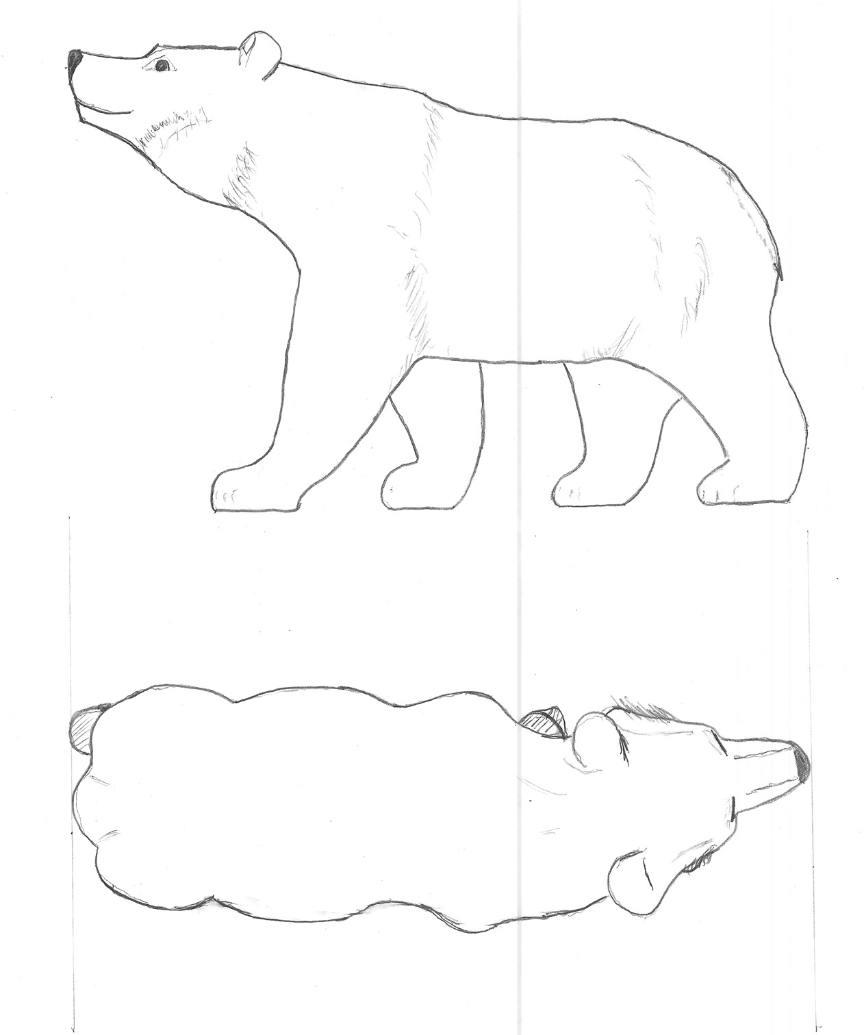 Bear Woodcarving Pattern